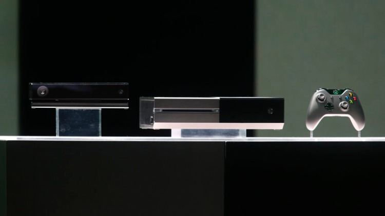 Xbox One is shown during a press event unveiling by Microsoft in Redmond